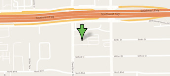Map of our Houston, TX location